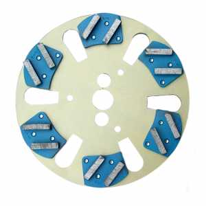 Sabre floor plate with metal-bonded segments