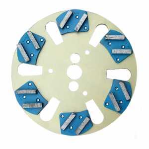 Sabre floor plate with metal-bonded segments