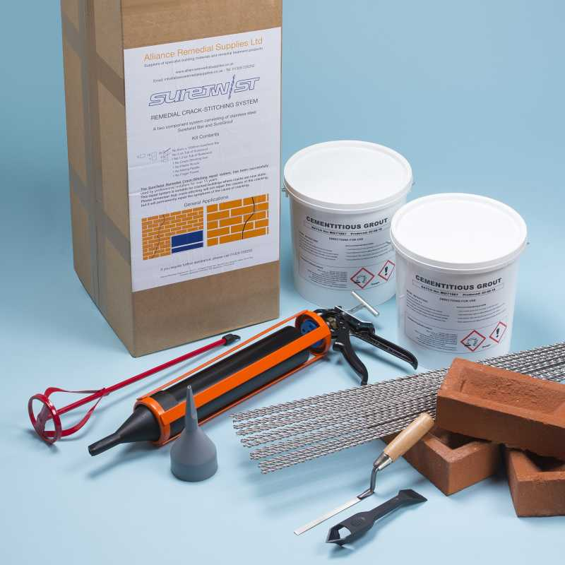 Suretwist Masonry Crack Repair Kit - Cementitious Grout