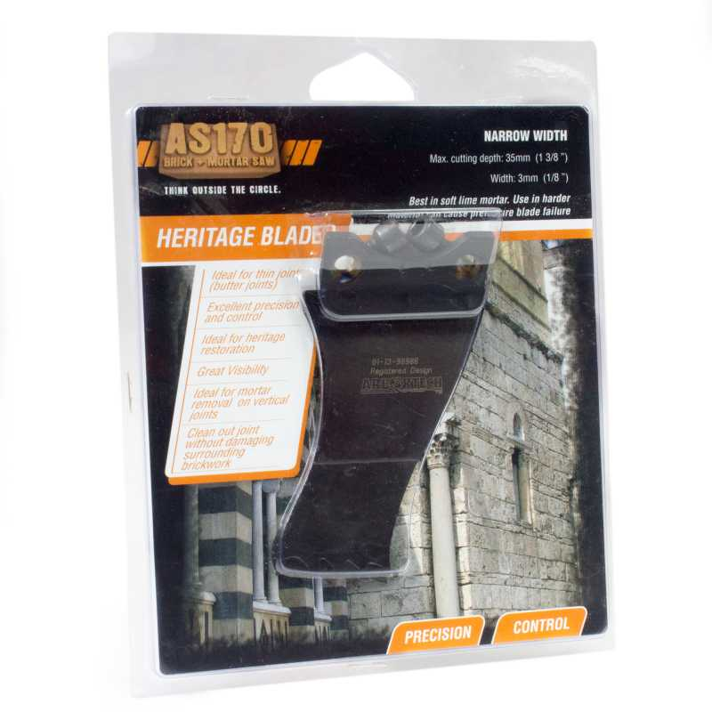 Heritage Narrow Mortar Removal blade