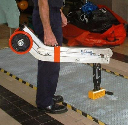 Manhole Buddy MagTec with folded alloy trolley